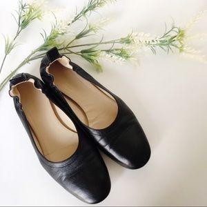 EVERLANE Day Flat Ballet Flats Black Leather Sz 9